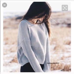 Brandy Melville Baby Blue Bronx Sweater